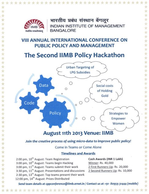 IIMB Policy Hackathon poster hosted on Matt Birkinshaw's human geography blog
