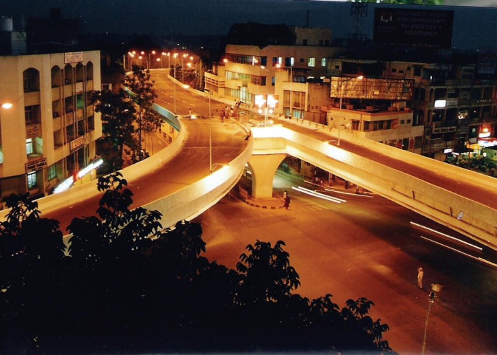 Urban India at night photo online at Matt Birkinshaw's human geography blog