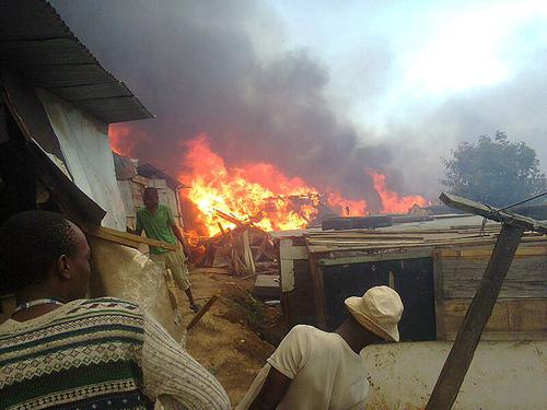 Shack Fire at Kennedy Road, South Africa, from Abahlali baseMjondolo on Matt Birkinshaw's geography blog