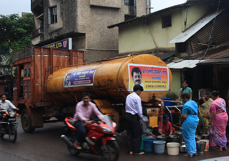 Water Truck - from wikipedia - this image hosted on Matt Birkinshaw water tanker urban politics regulation infrastructure blog