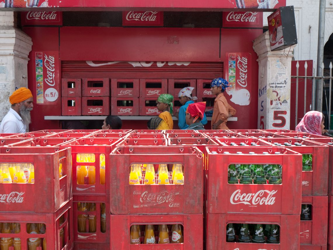 Coke bottle distribution area, Amritsar.