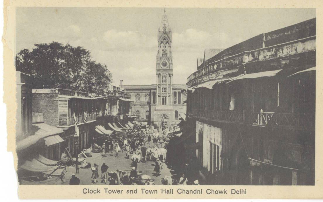Clock-Tower-and-Town-Hall-Chandni-Chowk-delhi